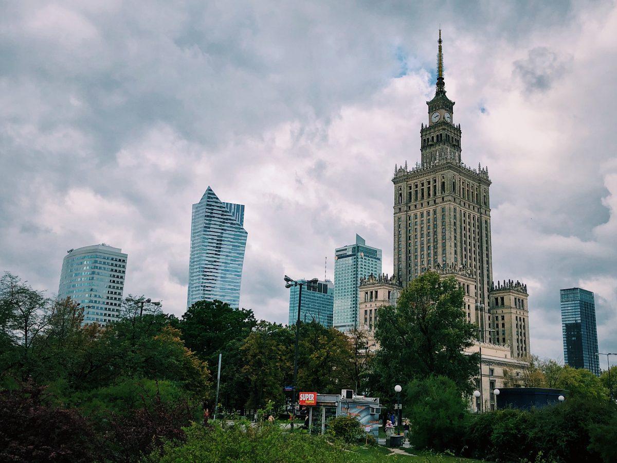 Die Skyline Warschaus